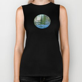 Colorful Reflections Abstract Biker Tank