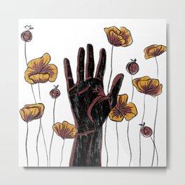 Let Go- Black Metal Print