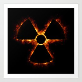 Nuclear Icon in Fire Art Print