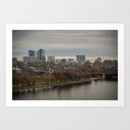 Charles River Overlook Art Print