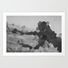 The mystery of the unknown lady    Art Print