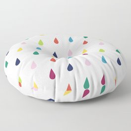 Raindrops Floor Pillow