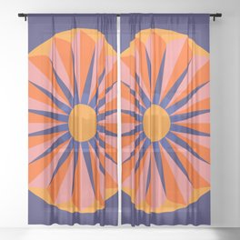 Flower Show Sheer Curtain