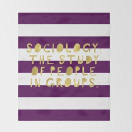 Sociology Definition-Purple Stripes | Academics | Studying Throw Blanket