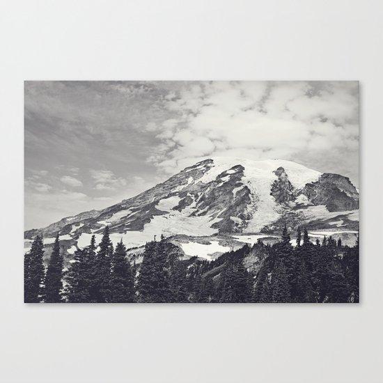 Mount Rainier B&W Canvas Print