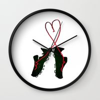 soccer Wall Clocks featuring Soccer Love by Leah Flores