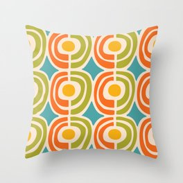 Mid Century Modern Solar Flares Pattern 2 Throw Pillow