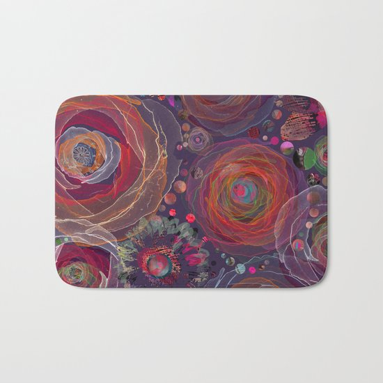 Floral abstract(53). Bath Mat