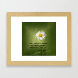 She is Clothed With Strength Framed Art Print