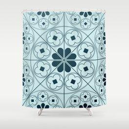 Tudor Blues Shower Curtain