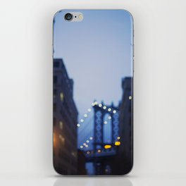 Manhattan Bridge at Night II iPhone Skin