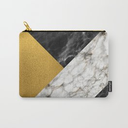 Gold foil white black marble #4 Carry-All Pouch