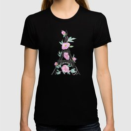 Eiffel tower and peonies T-shirt