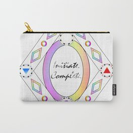 initiate complete - rainbow -  Carry-All Pouch