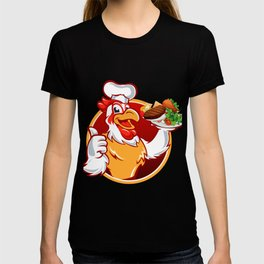 Cartoon chicken cook T-shirt
