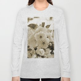 Cherry Blossoms Monochrome Long Sleeve T-shirt
