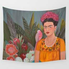 Frida a la casa azul Wall Tapestry