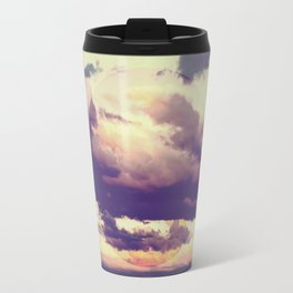 Abstract Boho Clouds Travel Mug