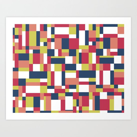 Map Matisse #1 Art Print
