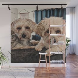 Penny and Copper Dogs Art Wall Mural