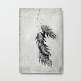 black and white oats Metal Print