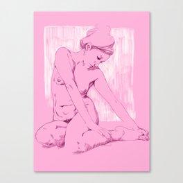 Chicas Rosadas Canvas Print