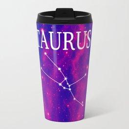 Starry Taurus Constellation Travel Mug