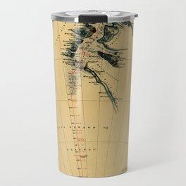 Map of Antarctic 1909 Travel Mug