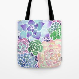 Masked Flora Collection Succulents Tote Bag