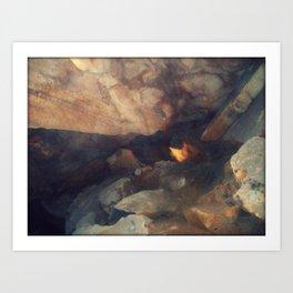 Textures - Limestone Caverns Art Print