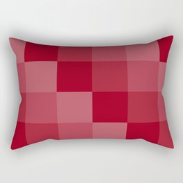 Four Shades of Red Square Rectangular Pillow