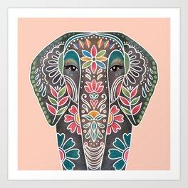 Painted Elephant Art Print