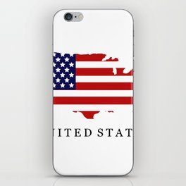 United States map with flag iPhone Skin