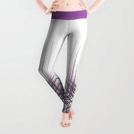 Purple Affiche Scandinave design, modern minimalist art Leggings