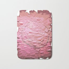 Smile on a pink toilet paper 2 Bath Mat