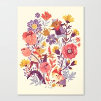 garden Canvas Prints featuring The Garden Crew by Teagan White