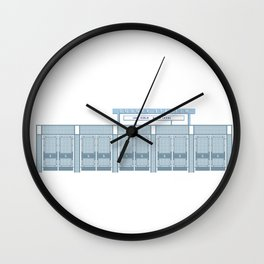 Dodger Stadium Left Field Gates Wall Clock