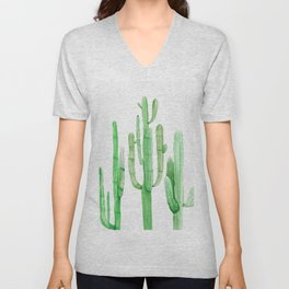 Three Amigos Cacti Green Unisex V-Neck