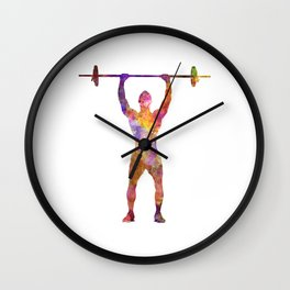 body buiding man isolated Wall Clock