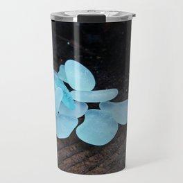 Aqua Sea Glass Travel Mug