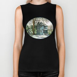 The House Under the Big Tree Biker Tank