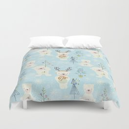 From Bears And Christmas-Cute teal X-Mas Pattern Duvet Cover