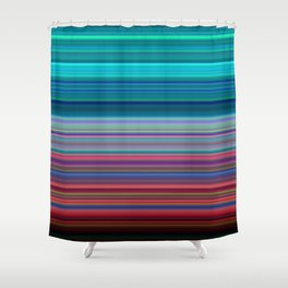 Blurry Saturn Stripes Shower Curtain