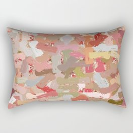 Coral Beads Paint Splatter 5050 Rectangular Pillow
