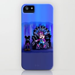Mario and Mouse in Iron Throne iPhone Case