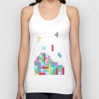 tetris Tank Tops featuring Tetris by #dancingpenguin