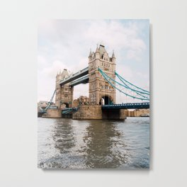 Boating around London Tower Bridge, England Metal Print