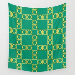angle yellow & green Wall Tapestry