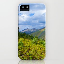 High Country Rainbow iPhone Case