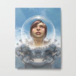 Certified Organic Astronaut Metal Print